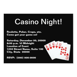 カジノ夜招待状 カード