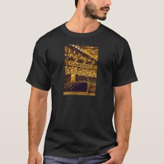 カジノ明るいライトラスベガスの賭博のお金 Tシャツ