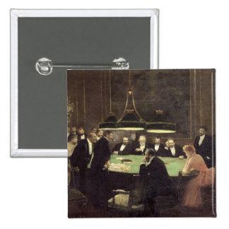カジノ1889年の賭博部屋 5.1CM 正方形バッジ