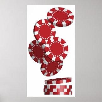 カジノ/ポーカー用のチップ ポスター