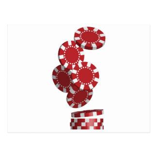 カジノ/ポーカー用のチップ ポストカード