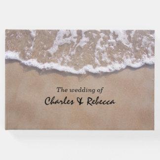 カジュアルなビーチのテーマの結婚式の来客名簿 ゲストブック