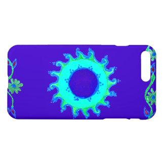 カジュアルな水のターコイズの珊瑚のティール(緑がかった色)青緑色パターン芸術 iPhone 8 PLUS/7 PLUSケース