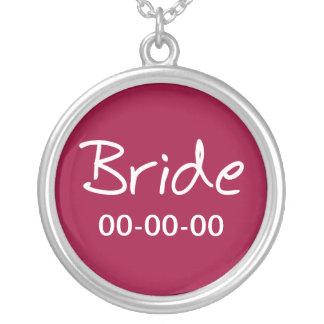 カジュアルな花嫁のペンダントのネックレス シルバープレートネックレス