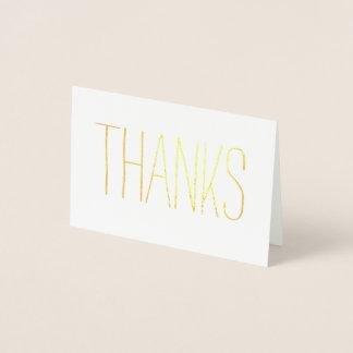 カジュアルな金ゴールドの感謝 箔カード