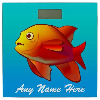 カスタマイズかわいいGaribaldiの魚の漫画 体重計