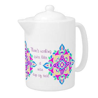 カスタマイズべきかわいらしいRangoliパターン茶ポット