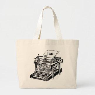 カスタマイズべきクールで古いタイプライター写実的なTotebag ラージトートバッグ