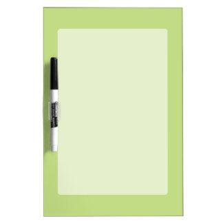カスタマイズべきパステル調の春の緑の強調色 ホワイトボード