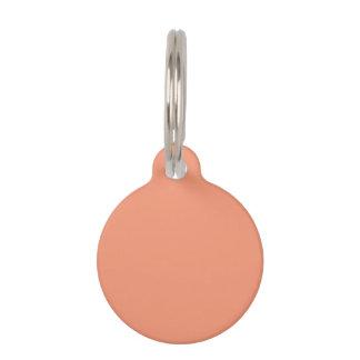 カスタマイズべきメロンのピンクのオレンジテンプレート ペット用タグ