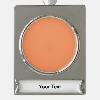 カスタマイズべき原子蜜柑のオレンジテンプレート シルバープレートバナーオーナメント