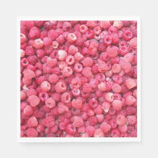 カスタマイズべき赤いラズベリーのテンプレートは個人化なります スタンダードランチョンナプキン