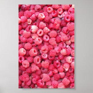 カスタマイズべき赤いラズベリーのテンプレートは個人化なります ポスター