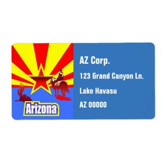 カスタマイズアリゾナの州の旗のヴィンテージの引くこと ラベル