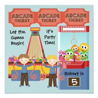 カスタマイズアーケードの誕生日のパーティの招待状 13.3 スクエアインビテーションカード