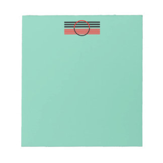 カスタマイズアールデコのデザインヘッダーが付いているメモ帳 ノートパッド