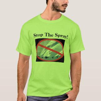 カスタマイズイメージのスプレーのTシャツを-ストップ Tシャツ