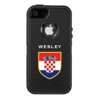 カスタマイズクロアチアの旗 オッターボックスディフェンダーiPhoneケース