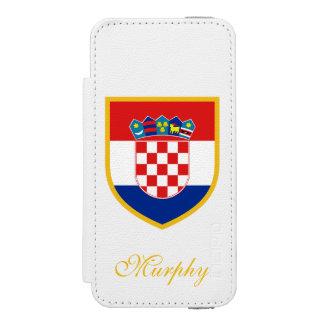 カスタマイズクロアチアの旗 INCIPIO WATSON™ iPhone 5 ウォレット ケース