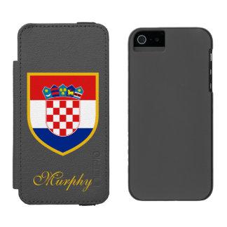 カスタマイズクロアチアの旗 INCIPIO WATSON™ iPhone 5 財布 ケース