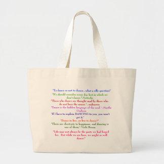 カスタマイズダンスのバッグ- ラージトートバッグ
