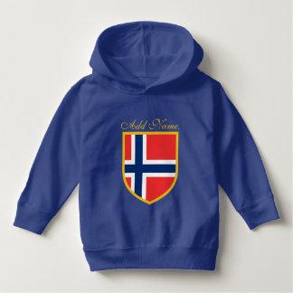 カスタマイズノルウェーの旗 パーカ
