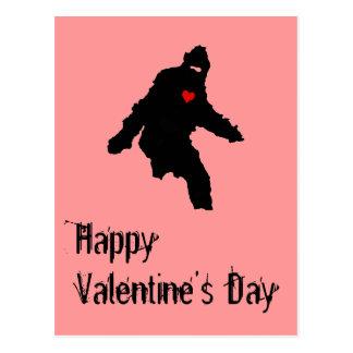 カスタマイズビッグフットのバレンタインの郵便はがき- ポストカード