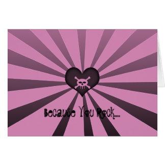 カスタマイズピンクの黒いスカル- カード