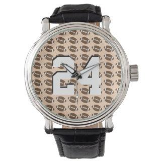 カスタマイズフットボール数腕時計 腕時計