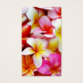 カスタマイズプルメリアのFrangipaniのハワイの花 名刺