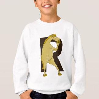 カスタマイズモノグラムRの漫画の子馬 スウェットシャツ