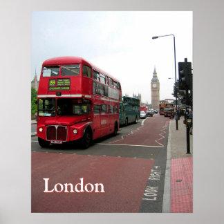 カスタマイズロンドンの二階建てバス ポスター