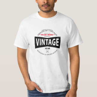 カスタマイズヴィンテージ年のパパ(記述のガイド)を Tシャツ