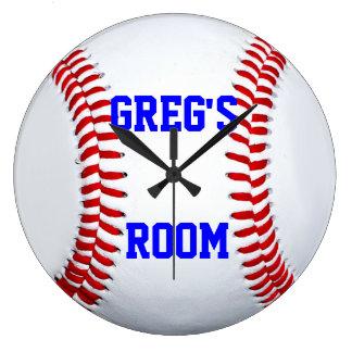 カスタマイズ一流の位置の野球の柱時計 ラージ壁時計