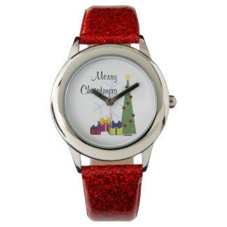 カスタマイズ可能でかわいいクリスマスの腕時計 腕時計