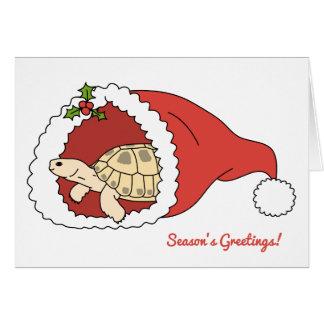カスタマイズ可能でロシアのなカメのクリスマスカード カード