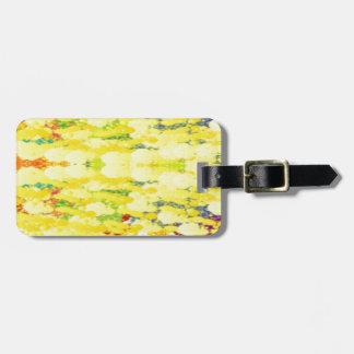カスタマイズ可能で明るい黄色の抽象芸術 バッグタグ