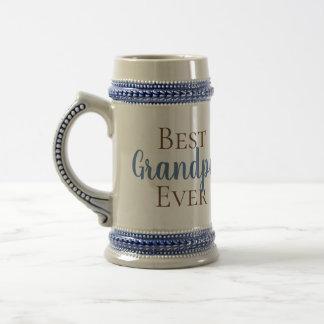カスタマイズ可能で最も最高のな祖父、Gramps、パパ、等 ビールジョッキ