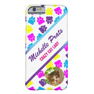 カスタマイズ可能で熱狂するなApple猫の女性iPhone 6/6sの場合 Barely There iPhone 6 ケース