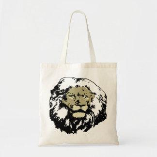 カスタマイズ可能で現実的なライオンの顔 トートバッグ