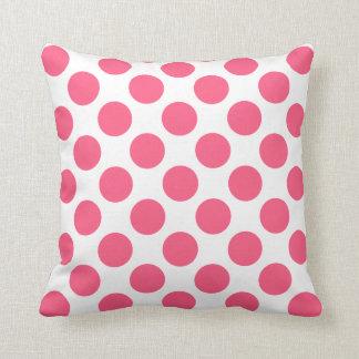 カスタマイズ可能で白いピンクの水玉模様の装飾用クッション クッション