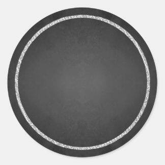 カスタマイズ可能で空白ので模造のな黒板のステッカー ラウンドシール