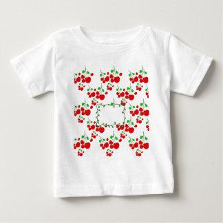 カスタマイズ可能で赤いさくらんぼパターン付属品LeahG ベビーTシャツ