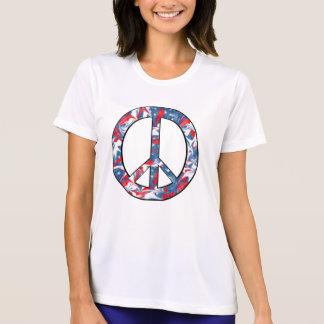 カスタマイズ可能で赤く、白く及び青の平和ジャージー Tシャツ