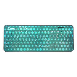 カスタマイズ可能で青い水の白熱点 ワイヤレスキーボード