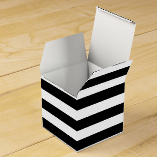 カスタマイズ可能で黒く及び白くストライプのな好意箱 フェイバーボックス
