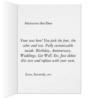 カスタマイズ可能で、名前入りなチューリップの挨拶状 グリーティングカード