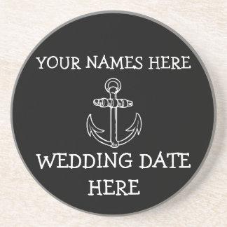 カスタマイズ可能ないかりの結婚式のコースター 飲み物用コースター