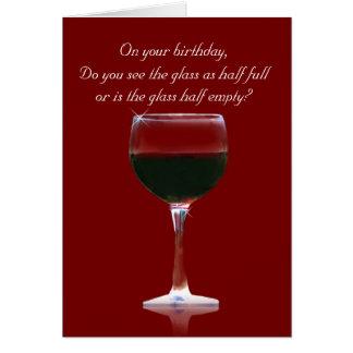カスタマイズ可能なおもしろいなワインのハッピーバースデー グリーティングカード