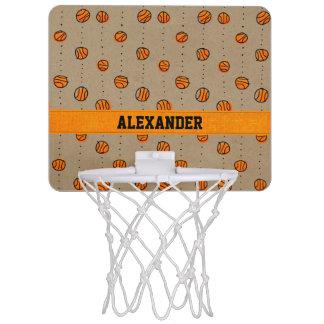 カスタマイズ可能なしたたるバスケットボールパターン ミニバスケットボールゴール